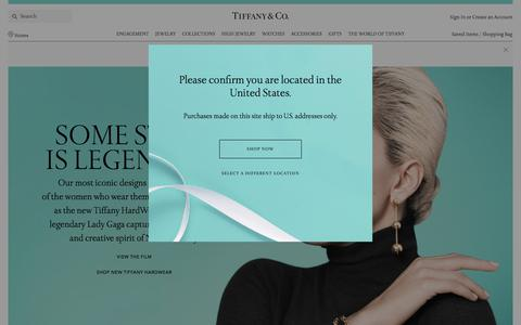 Screenshot of Home Page tiffany.com - Home | Tiffany & Co. - captured June 14, 2017