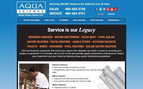 Screenshot of Services Page aquascienceaz.com - Service | Aqua Science - captured Nov. 21, 2016
