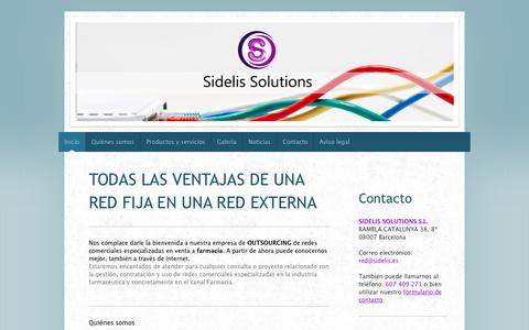 Screenshot of Home Page sidelis.es - Red de ventas farmacéuticas - captured Oct. 3, 2014