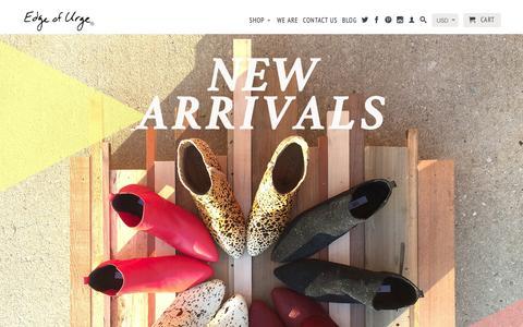 Screenshot of Home Page edgeofurge.com - Edge of Urge. Shop Independent, Artisan Made Goods & More!<h1> - captured Jan. 25, 2016