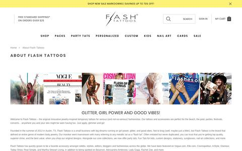Screenshot of About Page flashtat.com - About Flash Tattoos - captured Jan. 14, 2020