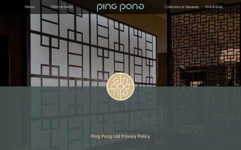 Screenshot of Privacy Page pingpongdimsum.com - PingPong Dimsum - Chinese Dim Sum & Cocktails - Privacy Policy - captured Dec. 8, 2018