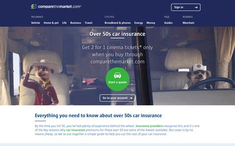 Cheap Over 50s Car Insurance Quotes | Compare The Market