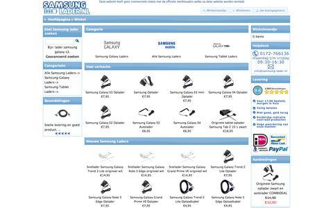 Screenshot of Home Page samsung-lader.nl - Samsung Lader Oplader Samsung - ✔Samsung oplader ✔Samsung lader - captured Sept. 5, 2015