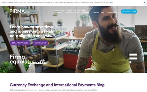 Screenshot of Blog firmafx.com - Firma Currency Exchange and International Payments Blog - captured July 6, 2017
