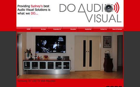 Screenshot of Home Page doav.com.au - Do Audio Visual | Audio Visual | Sydney | Interactive White Board - captured Oct. 5, 2014