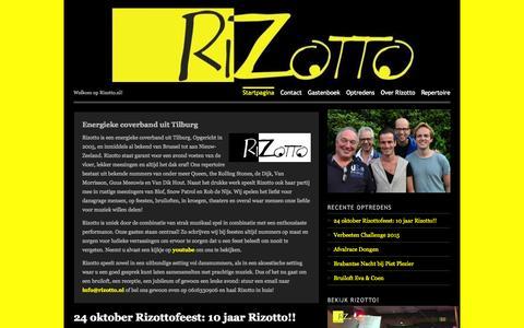 Screenshot of Home Page wordpress.com - Rizotto | Welkom op Rizotto.nl! - captured Sept. 7, 2015