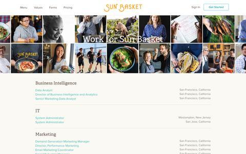 Careers at Sun Basket | Healthy Meal Kits Delivered