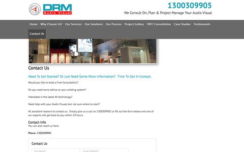Screenshot of Contact Page drmav.com.au - Contact-us - captured Oct. 5, 2014