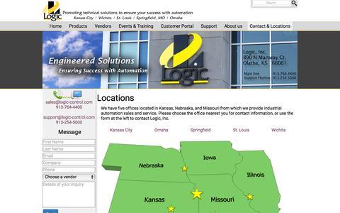 Screenshot of Contact Page logic-control.com - Logic, Inc. - Automation Specialists - captured Feb. 1, 2016