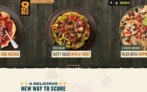 Screenshot of Home Page qdoba.com - QDOBA Mexican Eats | Mexican Restaurants & Catering - captured June 25, 2017