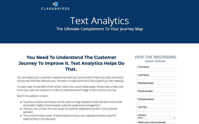 Webinar Recording: Text Analytics - The Ultimate Complement to Your Customer Journey Map