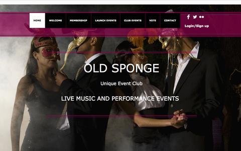 Screenshot of Home Page oldspongecarcoat.co.uk - The Old Sponge Car Coat Club | Events | oldspongecarcoat.co.uk - captured Oct. 6, 2014