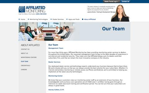 Screenshot of Team Page affiliated.com - Our Team | Affiliated Monitoring - captured Nov. 20, 2016