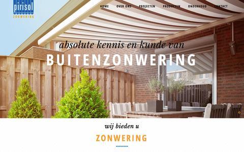 Screenshot of Home Page pirisol.nl - Home - Pirisol - captured Jan. 28, 2016