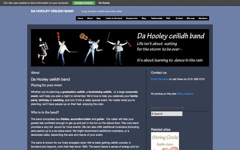 Screenshot of About Page ceilidhdanceband.com - About - Da Hooley ceilidh band - captured Oct. 5, 2014