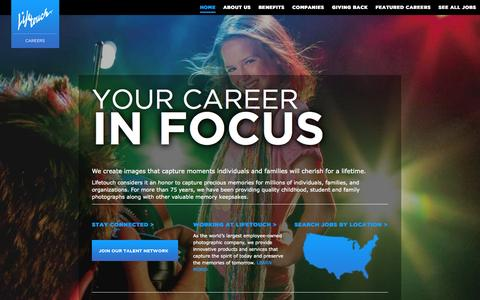 Screenshot of Jobs Page lifetouch.com - LifeTouch Careers | Home - captured Oct. 22, 2014