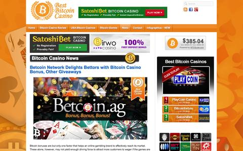 Screenshot of Press Page bestbitcoincasino.com - Bitcoin Casino News - captured Sept. 30, 2014