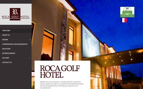 Screenshot of Home Page rocagolfhotel.bi - Roca Golf Hotel   Where Business meets Leisure - captured Jan. 22, 2015