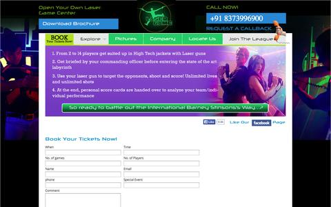 Screenshot of Contact Page lasergame.in - Contact - captured Sept. 26, 2014