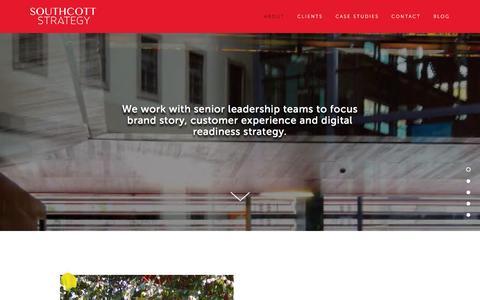 Screenshot of Home Page southcottstrategy.com - Southcott Strategy - captured Aug. 15, 2015