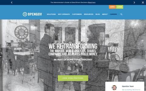 Screenshot of Jobs Page opengov.com - Careers at OpenGov - captured Feb. 7, 2016