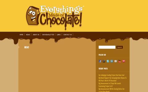 Screenshot of Press Page everythingsmadeofchocolate.com - News | Everythings Made of Chocolate - captured Sept. 30, 2014