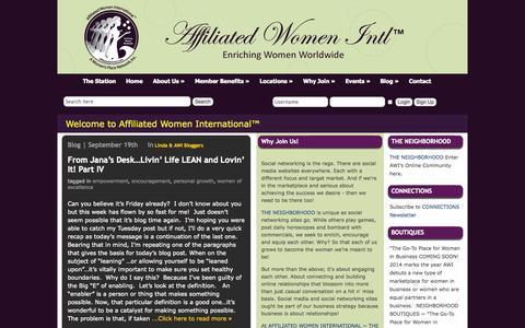 Screenshot of Blog affiliatedwomen.net - Blog   Affiliated Women - captured Oct. 1, 2014