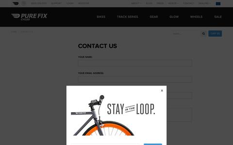 Screenshot of Contact Page purefixcycles.com - Contact Us   Pure Fix Cycles - captured Sept. 23, 2014