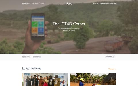 Screenshot of Blog dimagi.com - Dimagi's Blog | Best Practices in Mobile Data Collection and ICT4D - captured Aug. 3, 2019