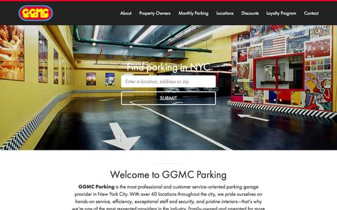 Screenshot of Home Page ggmcparking.com - GGMC Parking - captured Sept. 25, 2015