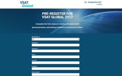 Screenshot of Landing Page knect365.com - VSAT Global - captured Dec. 30, 2016
