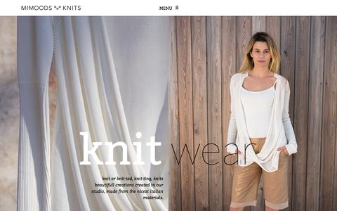 Screenshot of Home Page mimoods.nl - Mimoods Knits - captured Sept. 30, 2014