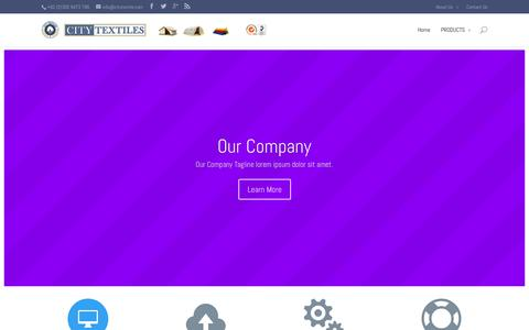 Screenshot of About Page citytextile.com - About Us | CITY TEXTILES (PVT) LIMITED – PAKISTAN - captured Oct. 1, 2014