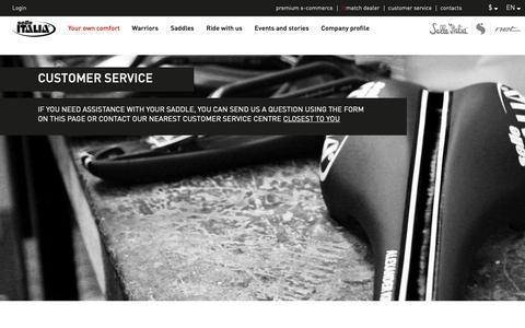 Screenshot of Support Page selleitalia.com - Woldwilde Customer service - Selle Italia - captured Oct. 18, 2018