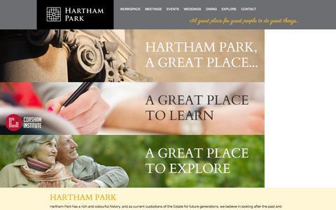 Screenshot of About Page harthampark.com - Hartham Park | Hartham Park - captured July 19, 2015