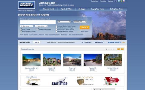 Screenshot of Home Page azmoves.com - Coldwell Banker Residential Brokerage - Arizona Real Estate - captured Sept. 22, 2014