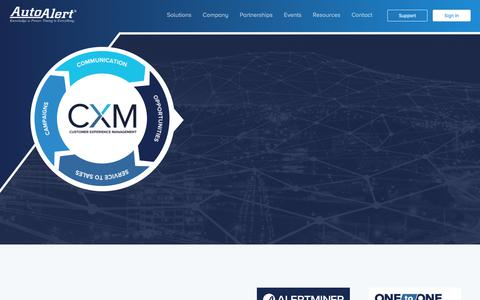 Screenshot of Home Page autoalert.com - AutoAlert / CXM / Automotive Intelligence / Equity Mining / Automotive Communication Platform - captured Jan. 25, 2019