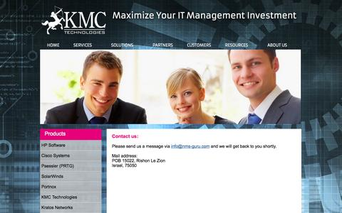 Screenshot of Contact Page nms-guru.com - KMC Technologies - Contact Us - captured Nov. 3, 2014