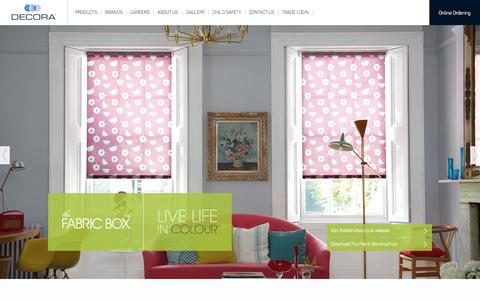 Screenshot of Products Page decora.co.uk - Decora | Welcome - captured Oct. 5, 2014