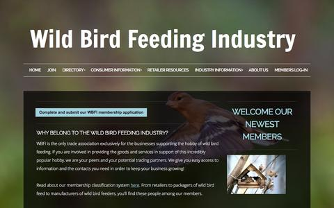 Screenshot of Signup Page wbfi.org - Wild Bird Feeding Industry - Join - captured Feb. 16, 2016