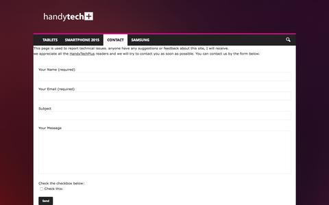 Screenshot of Contact Page handytechplus.com - Contact Us - HandyTechPlus - captured Oct. 1, 2015