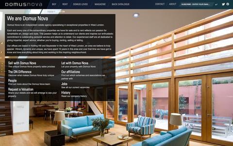 Screenshot of About Page domusnova.com captured Sept. 22, 2014