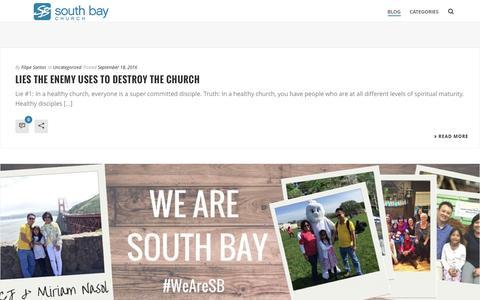 Screenshot of Blog southbaychurch.org - BLOG – South Bay Church - captured Dec. 14, 2016