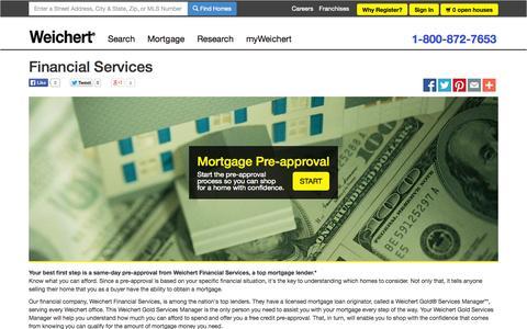 Screenshot of Services Page weichert.com - Financial Services - captured Sept. 18, 2014
