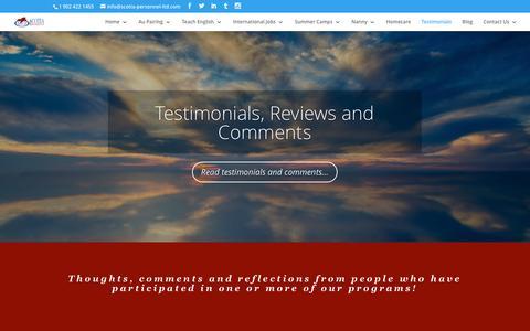 Screenshot of Testimonials Page scotia-personnel-ltd.com - Scotia Personnel Reviews - Scotia Personnel Ltd - captured May 28, 2017