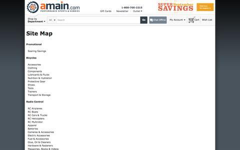 Screenshot of Site Map Page amain.com - AMain.com - captured Sept. 18, 2014