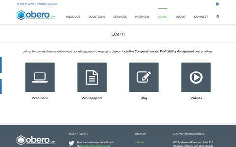 Learn - Obero SPM