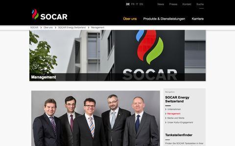 Screenshot of Team Page socarenergy.ch - Management | SOCAR ENERGY Switzerland - captured Sept. 24, 2014