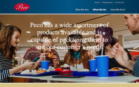 Screenshot of Products Page pecofoods.com - Products | Peco Foods, Inc. - captured July 16, 2018